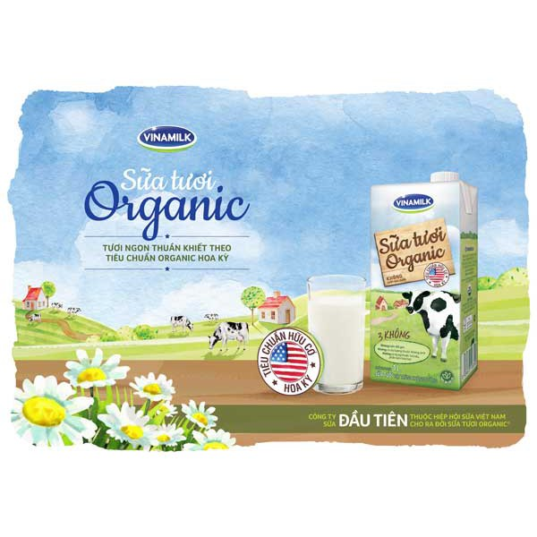 6 lốc sữa tươi 100% organic