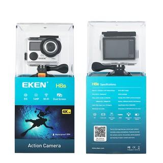 [Mã ELMALL300 giảm 7% đơn 500K] Camera hành trình EKEN H6S tặng 1 pin zin, 1 sạc đôi, camera hành động 4k wifi
