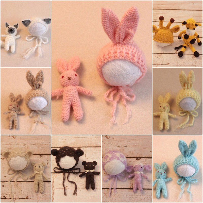 Overseas delivery of new children's photography clothing Newborn handmade wool b