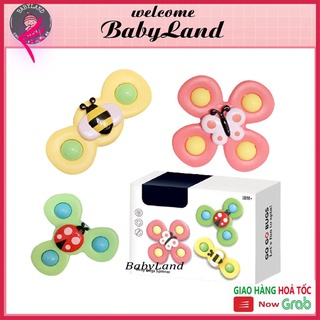 [Giảm giá thần tốc] Đồ chơi cho bé set 3 con quay spinner hình côn trùng vui nhộn cho bé babyland thumbnail
