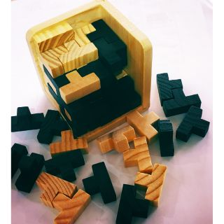 Bộ đồ chơi gỗ Lắp ghép nhị thức trí tuệ giáo dục Montessori 54 chi tiết gỗ