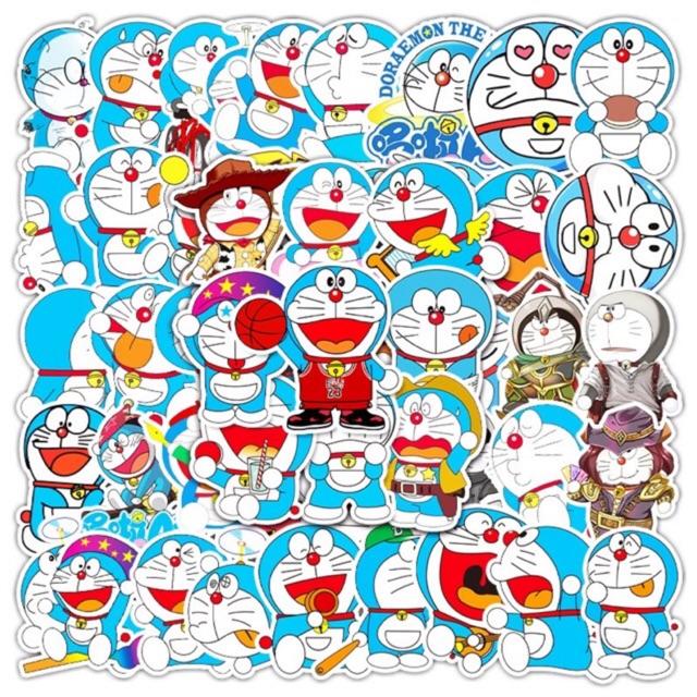 10 sticker doraemon cute chống thấm nước trang trí