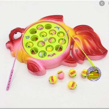 Vỉ đồ chơi câu cá 2 cần 15 cá hình cá dùng pin