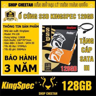 Ổ cứng SSD KingSpec 128GB – CHÍNH HÃNG – Bảo hành 3 năm – Tặng cáp dữ liệu Sata 3.0