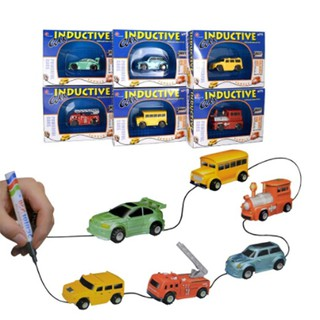 truck children inductive figure tank car pen draw lines induction rail