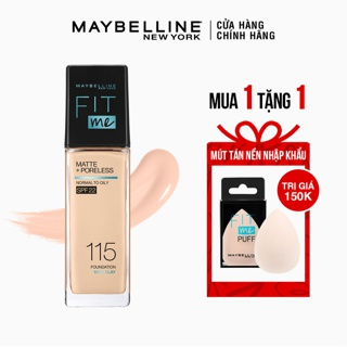 Kem Nền Mịn Nhẹ Kiềm Dầu Fit Me Maybelline New York Matte Poreless Foundation