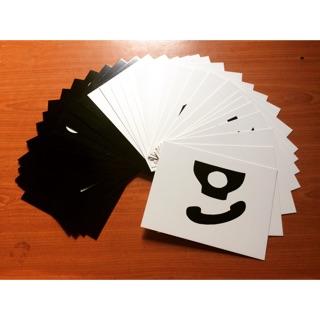 Flash Card Glan Doman Kích thích thị giác đen trắng cho trẻ 0 – 3 tháng
