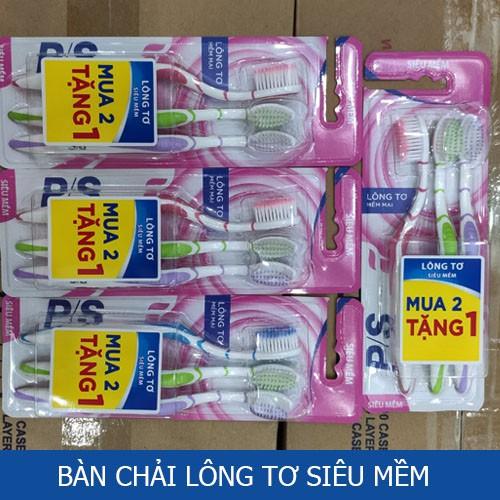 Bộ 3 bàn chải đánh răng P/S Lông tơ mềm mại