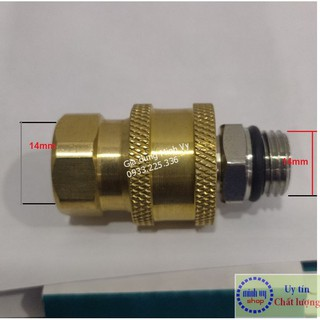 bộ khớp nối nhanh ren 14mm cho máy rửa xe -BKN14mm