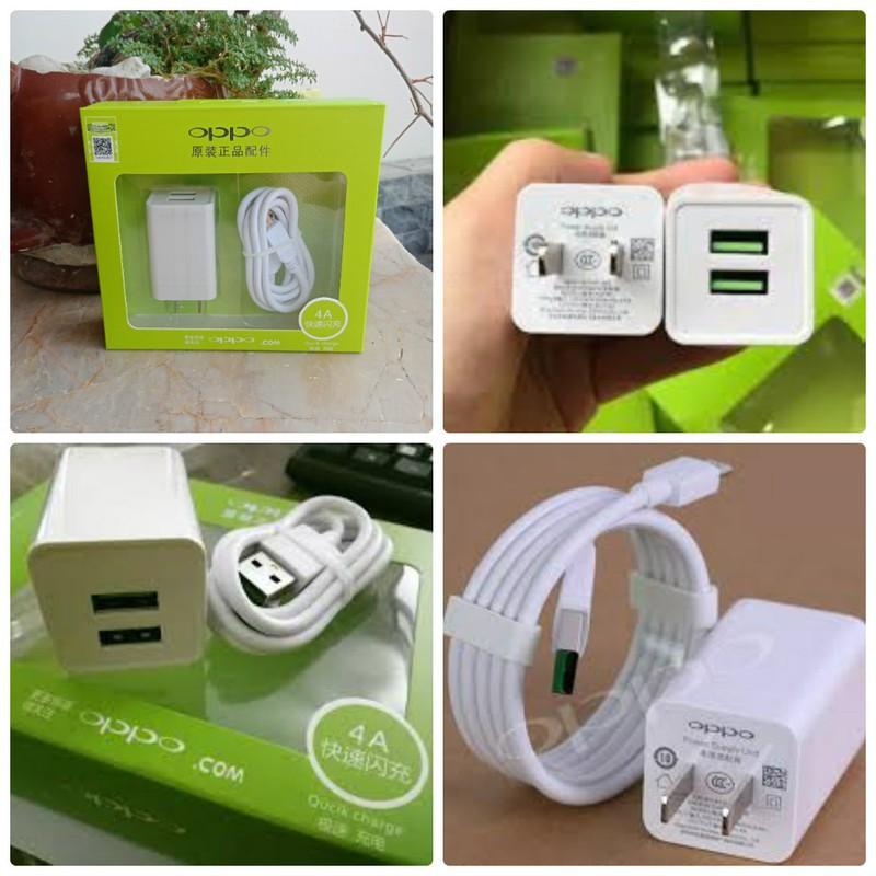 BỘ SẠC OPPO 4A-DOCK SẠC+CÁP SẠC CÔNG NGHỆ VOOC 2 cổng USB- Sạc nhanh   Nông  Trại Vui Vẻ - Shop