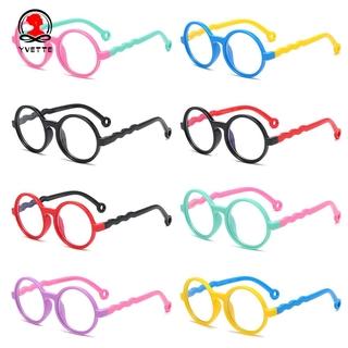 YVETTE Age 3-10 Blue Light Glasses for Kids Silicone Frame TV Phone Glasses Blue Light Blocking Glasses Anti-eyestrain UV400 Protection Soft for Boys Girls Computer Gaming Glasses