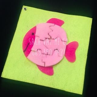 Bộ xếp hình hình chú cá hồng cho bé từ 2 tuổi