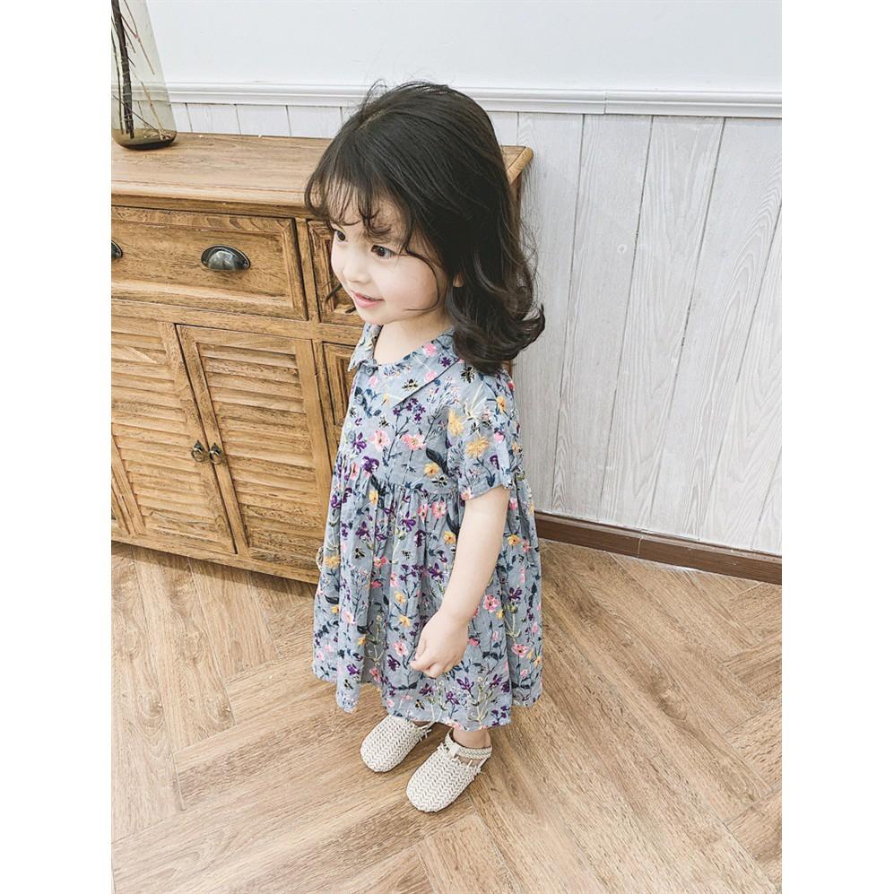 Đầm búp bê in họa tiết thời trang xinh xắn cho bé gái 3-8 tuổi - Đầm bé gái  Thương hiệu No brand