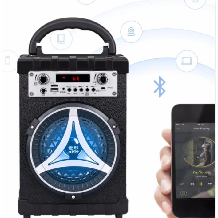 (xem video)Loa kẹo kéo trợ giảng và hát Karaoke xách tay đa năng kèm micro không dây Daile/Deland S1