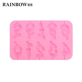 rainbow88 Silicone Number 0-9 Mould DIY Baking Tools Tool for Birthday Cake Decorating Awesome