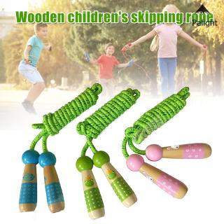✨PA✨ Wooden Handle Cartoon Skipping Jump Rope Adjustable Fitness Tool Toy for Children Kids