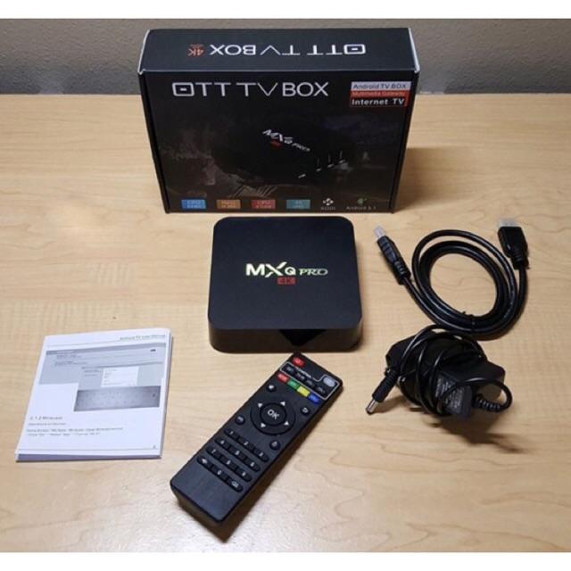 Androi TV Box Truyền hình 4K MXQ Pro 2G+16G Tích hợp FPT Play (Bản ngon Chip S905W - Bán chạy)