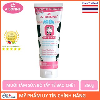 Muối Tắm Sữa Bò Spa A Bonne Làm Trắng Da, Tẩy Tế Bào Chết A Bonne Spa Milk Salt Shower Formula 350g (Tuýp) thumbnail