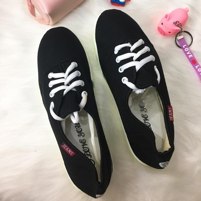 [SALE SẬP GIÁ] Giày bata vải đen