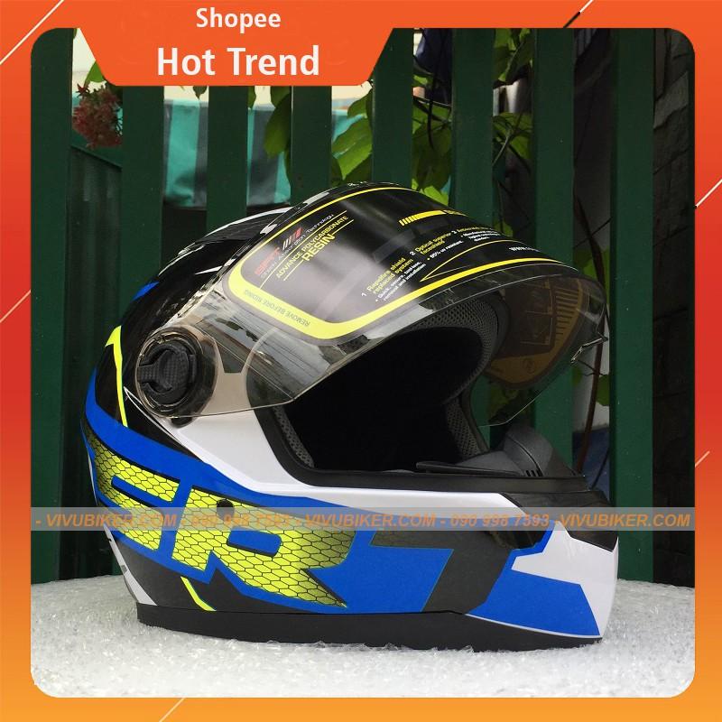 Nón mũ bảo hiểm Fullface Asia tem rùa siêu cá tính - Nón bảo hiểm Fullface mt 136 nhiều tem lựa chọn