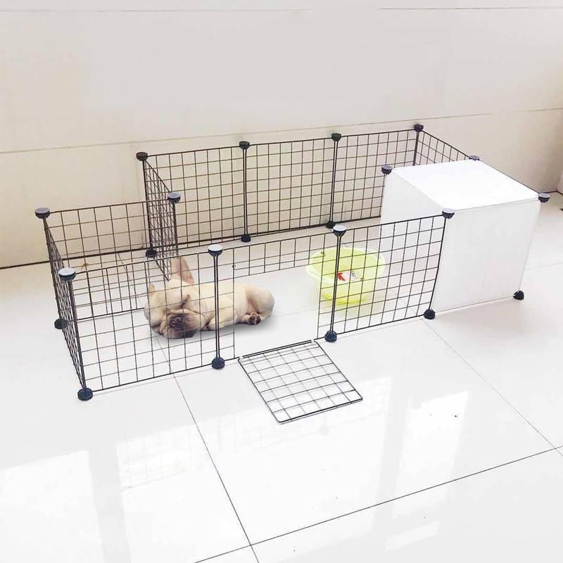 Quây chuồng chó mèo ghép chắc chắn tiện lợi (9 tấm lưới đen, 1 cửa lưới thép và 4 tấm nhựa) - 21779911 , 2810003634 , 322_2810003634 , 420000 , Quay-chuong-cho-meo-ghep-chac-chan-tien-loi-9-tam-luoi-den-1-cua-luoi-thep-va-4-tam-nhua-322_2810003634 , shopee.vn , Quây chuồng chó mèo ghép chắc chắn tiện lợi (9 tấm lưới đen, 1 cửa lưới thép và 4