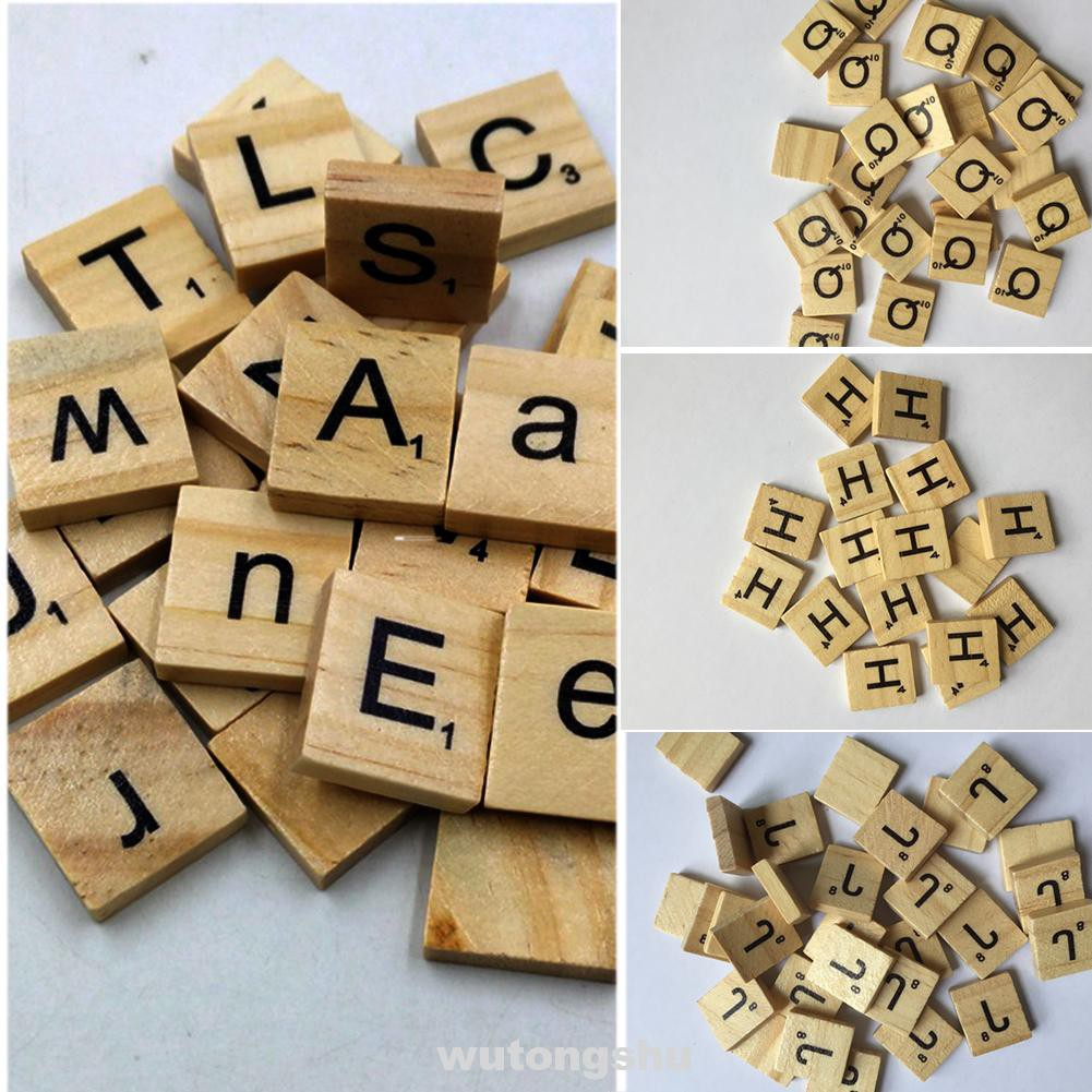 English Letters Kids DIY Gifts Wooden Educational Toy