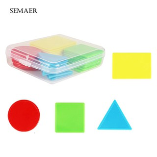 40Pcs/Set 4cm Counters Counting Chips Mathematics Shape Sorting Education Toy