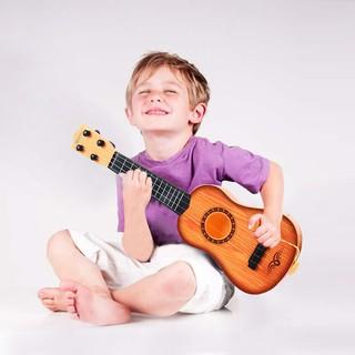 Children Guitar Toy Music Instrument Kids Gift-Brown