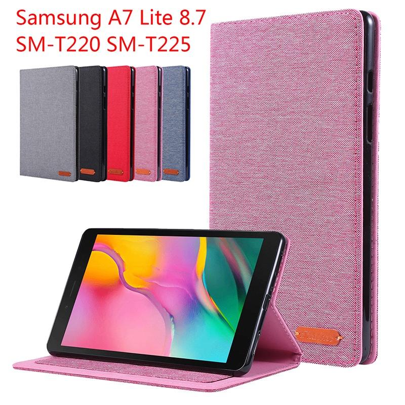 Ốp Lưng Máy Tính Bảng Đứng Lật Họa Tiết Cao Bồi T220 T225 Samsung Galaxy Tab A7 Lite 8.7 Inch, SM-220 Cho Samsung Tab A7 Lite Vỏ SM-T225