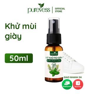 Xịt khử mùi giày Purevess hương bạc hà the mát 50ml – 100ml
