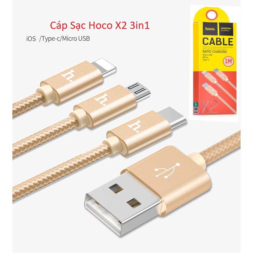 Cáp sạc Hoco X2 3in1 chính hãng