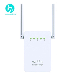Wireless Router 300M Dual Antennas Wi-Fi Network Amplifier US Plug N2VN