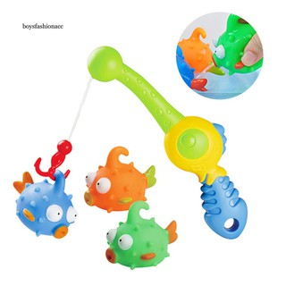 BOYS Multicolor Floating Squirts Fish Water Play Set Fishing Bath Toddler Kids Toys