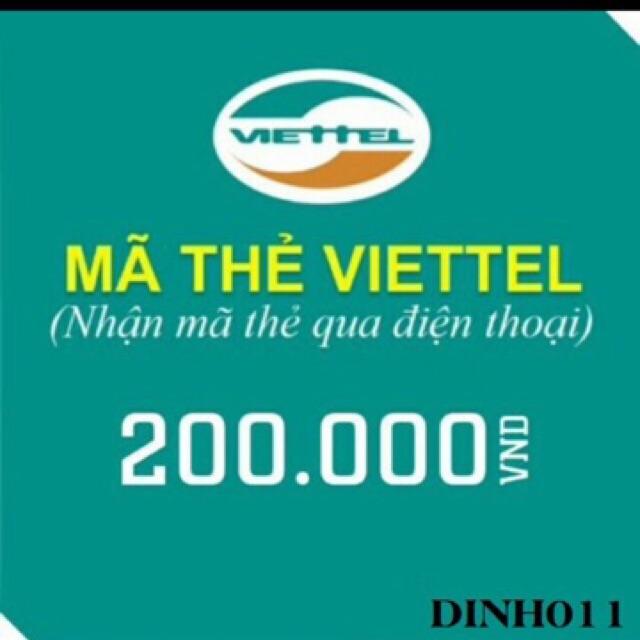 Thẻ viettel 200k (có mã thẻ và seri) - 3415849 , 693888190 , 322_693888190 , 186999 , The-viettel-200k-co-ma-the-va-seri-322_693888190 , shopee.vn , Thẻ viettel 200k (có mã thẻ và seri)