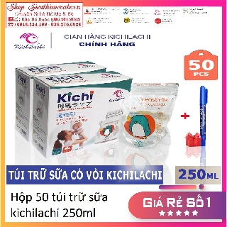 Hộp 50 Túi Trữ Sữa kichilachi sunny 250ml [ tặng kèm bút ghi thông tin] thumbnail