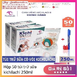 Hộp 50 Túi Trữ Sữa kichilachi/ sunny 250ml [ tặng kèm bút ghi thông tin]