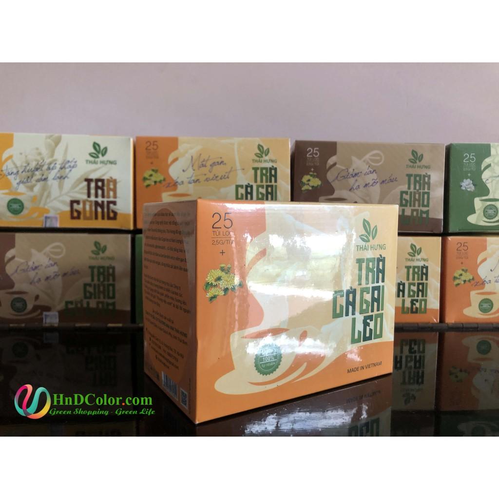 [CHÍNH HÃNG] Trà Cà Gai Leo Thái Hưng (trà thảo dược, 100% tự nhiên, hộp cao cấp) - mát gan xóa tan virut, giải rượu bia