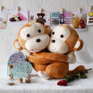 Gấu bông khỉ đôi ôm nhau size 35cm