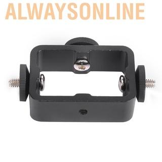 Alwaysonline Multi-function Mobile Phone Clip Holder 3 Position Bracket for Live Broadcast Selfie Camera Phones
