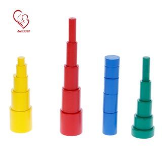 20Pcs/Set Infant Cylinder Blocks Preschool Learning Educational Math Toys For Toddlers