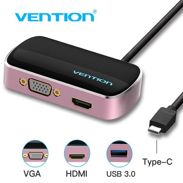 Cáp chuyển đổi Type C to HDMI / VGA/ USB Vention CGCBB - 3135766 , 1258616123 , 322_1258616123 , 1000000 , Cap-chuyen-doi-Type-C-to-HDMI--VGA-USB-Vention-CGCBB-322_1258616123 , shopee.vn , Cáp chuyển đổi Type C to HDMI / VGA/ USB Vention CGCBB