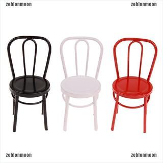 moon.vn Mô hình ghế tựa bằng sắt mini tỉ lệ 1/6 1/12 đồ chơi búp bê dễ thương ☀$