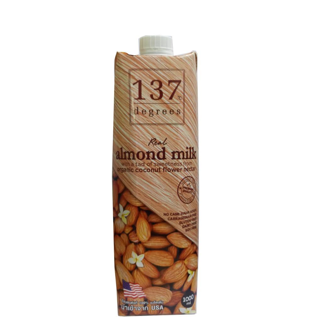 Thùng 12 hộp 1L Sữa hạnh nhân 137 Degrees vị truyền thông date 06/2020