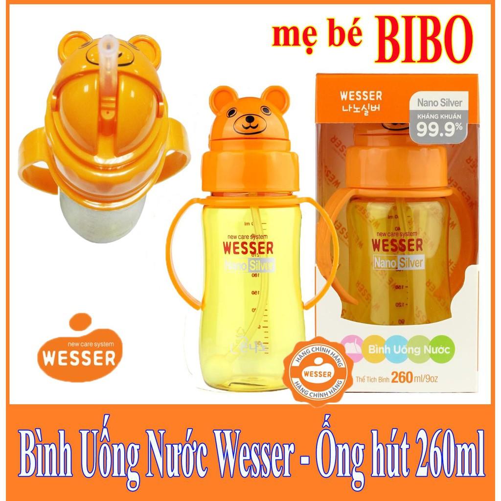 Bình uống nước Wesser 260ml Nano Silver
