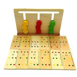 Bộ tư duy logic 3 màu Giáo cụ Montessori đồ chơi giáo dục