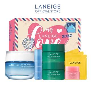 Bộ sản phẩm chăm da giấc ngủ & dưỡng ẩm nước khoáng xanh LANEIGE Water Bank Hydro Cream thumbnail