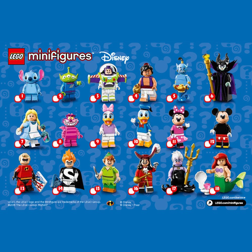 Nhân Vật LEGO Minifigures Bà Tiên Ác Maleficent 71012 Disney Series 1 - LEGO Chính Hãng Đan Mạch