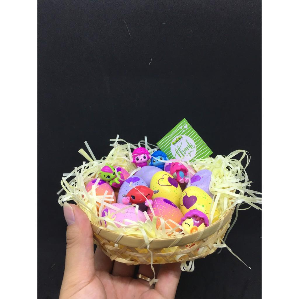Giỏ trứng Hatchimals - quà trung thu cho bé (10 TRỨNG & 5 THÚ RỜI)