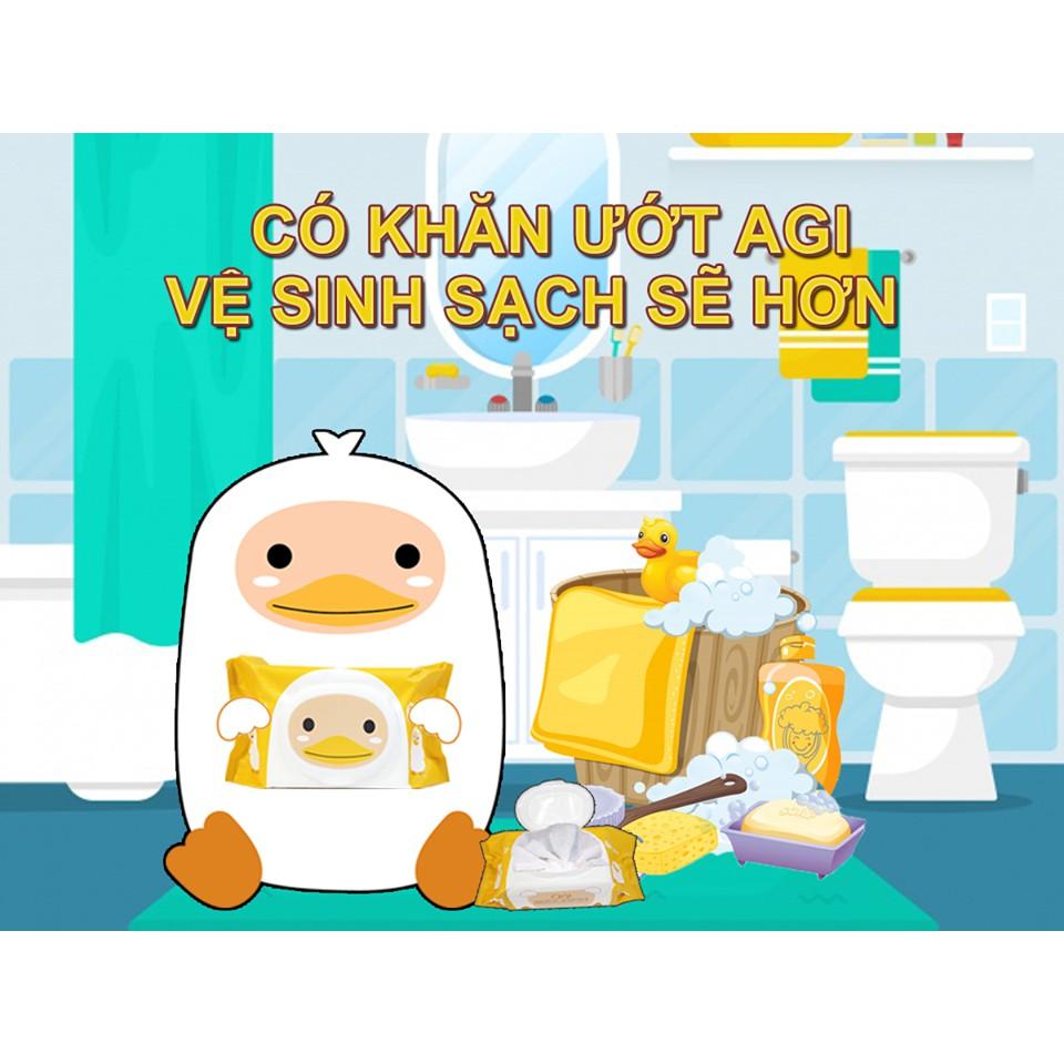COMBO 6 GÓI KHĂN ƯỚT AGI 100 TỜ KHÔNG HƯƠNG, HÀNG CHÍNH HÃNG
