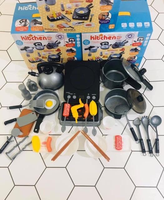 Bộ đồ nấu ăn 36 món Loại size to bếp từ chạy Pin